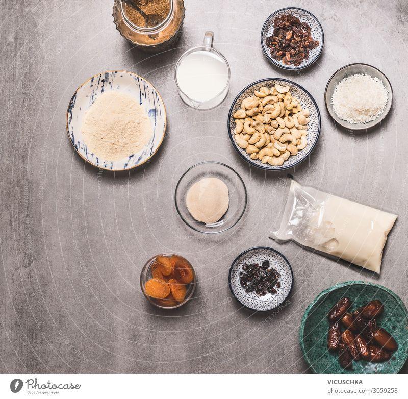 Bowls with vegan ingredients Food Nutrition Organic produce Vegetarian diet Diet Milk Crockery Healthy Healthy Eating Design Vegan diet Background picture