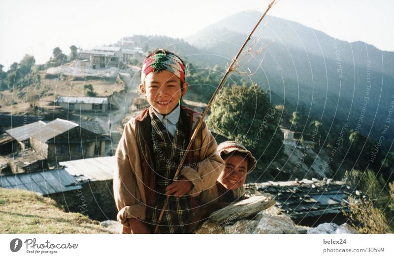 Human being Child Nature Boy (child) Open Asia Primordial Nepal