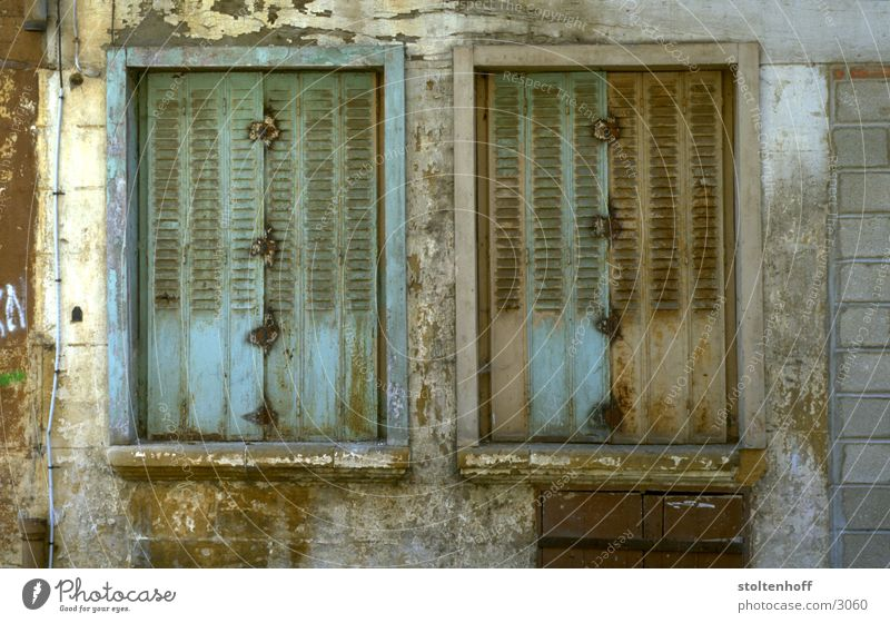 Colour Window Closed Decline France Plaster Desolate