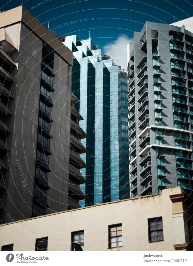 exterior Far-off places City trip Sky Beautiful weather Queensland Town Downtown Skyline High-rise Architecture Office building Facade Window Authentic