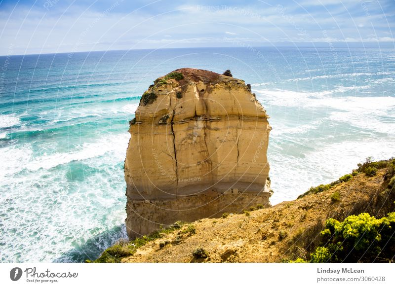 An Apostle, Great Ocean Road Environment Nature Landscape Earth Water Sky Summer Beautiful weather Waves Coast Tourist Attraction Landmark Joy Happiness