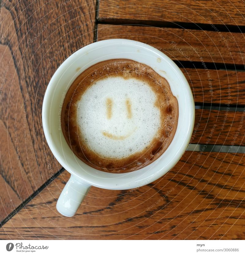 Happy coffee Food Nutrition Breakfast To have a coffee Beverage Drinking Hot drink Hot Chocolate Coffee Latte macchiato Espresso Laughter Delicious Emotions Joy