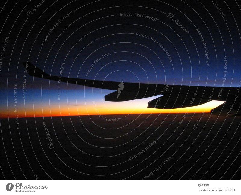 nightflight Night Airplane Dark Sunset Engines Aviation