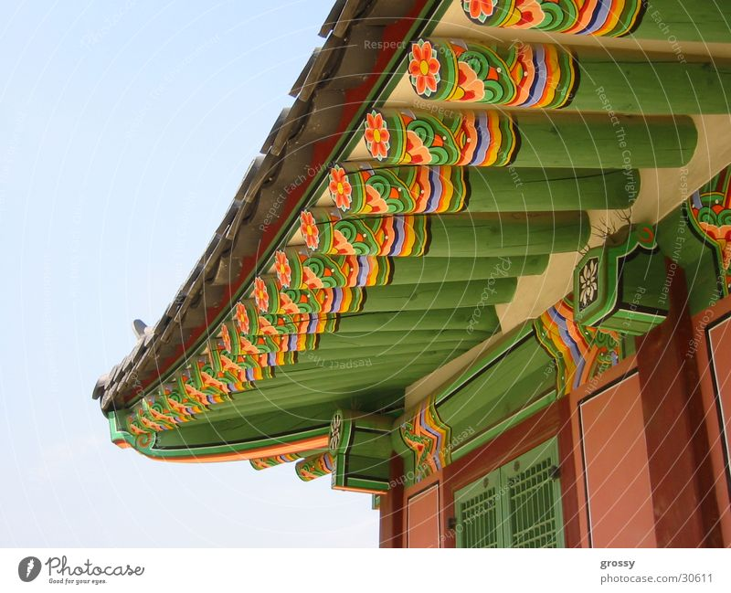 Roof Colour Historic South Korea Temple Seoul