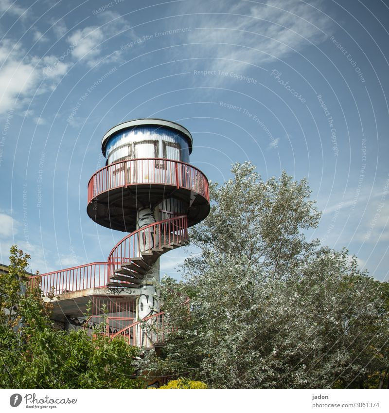 panorama. Lifestyle Style Stands Architecture Bushes Park Brandenburg an der Havel Town Skyline Tower Manmade structures Stairs Window Air Traffic Control Tower