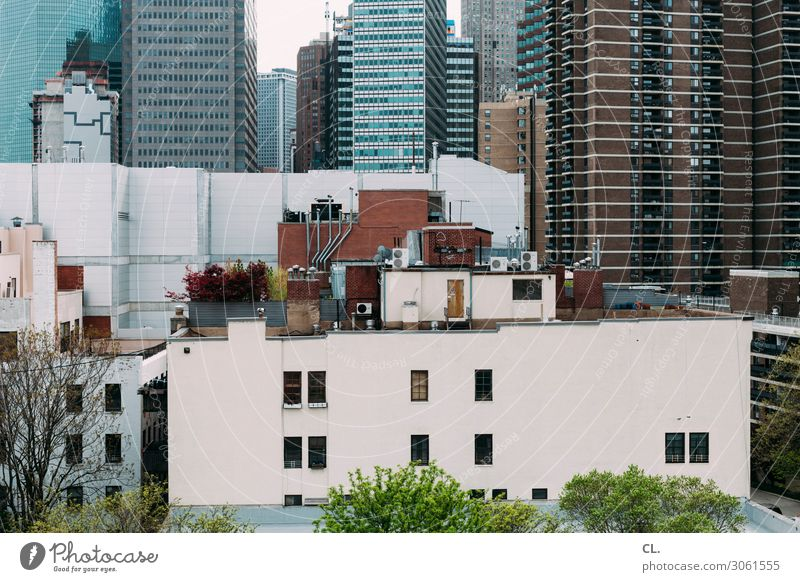 Town Architecture Building Facade High-rise Growth USA Change Manmade structures Many Downtown Manhattan New York City Complex Water tank