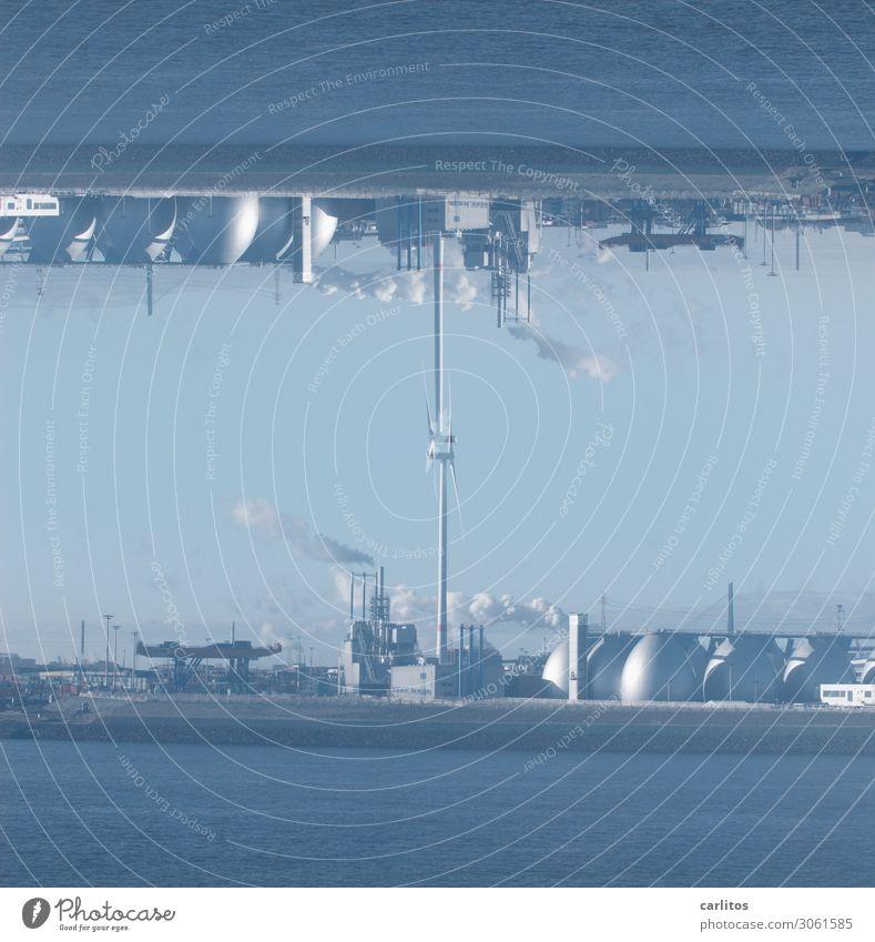 Hamburg is upside down II Harbour Tourism tanks Chimney Storage