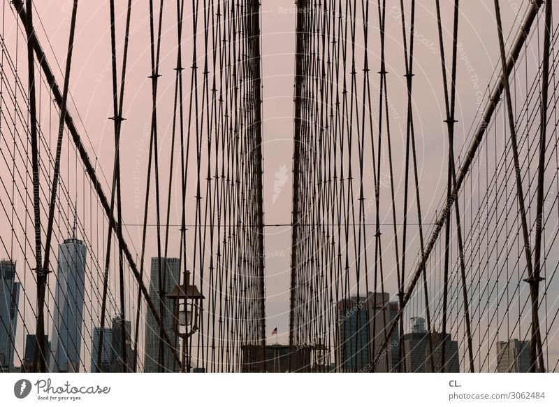 brooklyn bridge Vacation & Travel Tourism City trip Architecture Sky Manhattan Brooklyn Brooklyn Bridge New York City USA North America Town Skyline High-rise