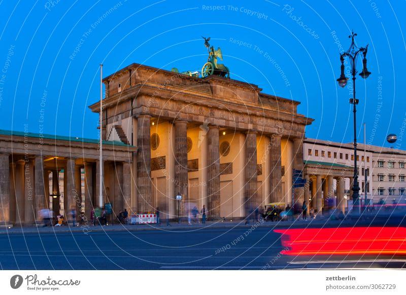 Brandenburg Gate again Evening Architecture Berlin Germany Dark Twilight Capital city Night Parliament Government Seat of government Spreebogen Landmark
