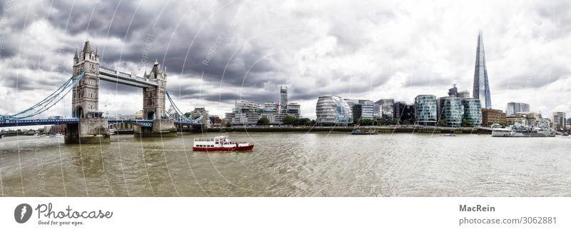 Tower Bridge Panorama Vacation & Travel Tourism Trip Water London Capital city Landmark Inland navigation Boating trip England Icon Monarchy Midday