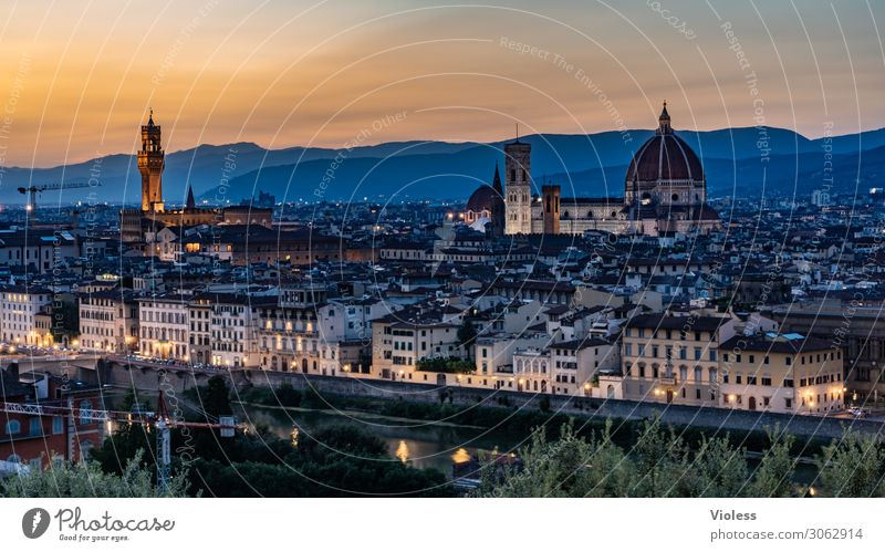 florence Florence Tuscany Cradle of the Renaissance Piazzale Michelangelo Cathedral Santa Maria del Fiore Italy Sunset Light bishop's church Twilight Arno