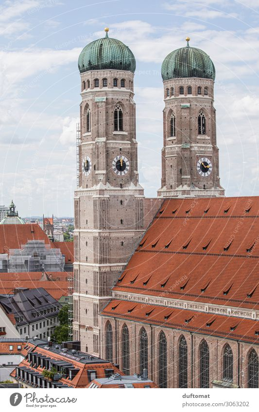 Liebfrauen Cathedral in Munich Style Contentment Calm Vacation & Travel Tourism Trip Sightseeing City trip Summer Work of art Architecture Beautiful weather