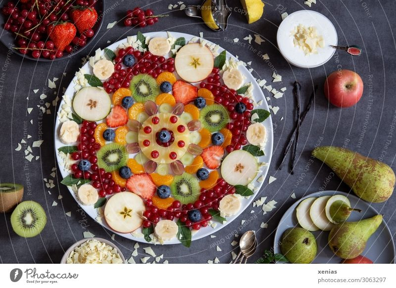 Healthy Food Lifestyle Fruit Nutrition Sweet Fresh Organic produce Apple Vegetarian diet Bowl Chocolate Plate Lemon Strawberry Spoon