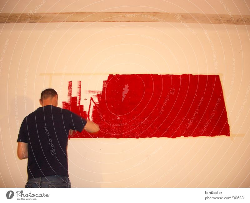 Red Wall (building) Image Living or residing Painting (action, work) Blood Rectangle Photographic technology