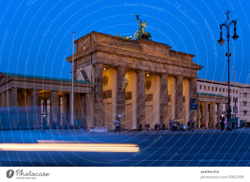 Brandenburg Gate Evening Architecture Berlin Germany Dark Twilight Capital city Night Government Seat of government Reichstag Spree Spreebogen Landmark