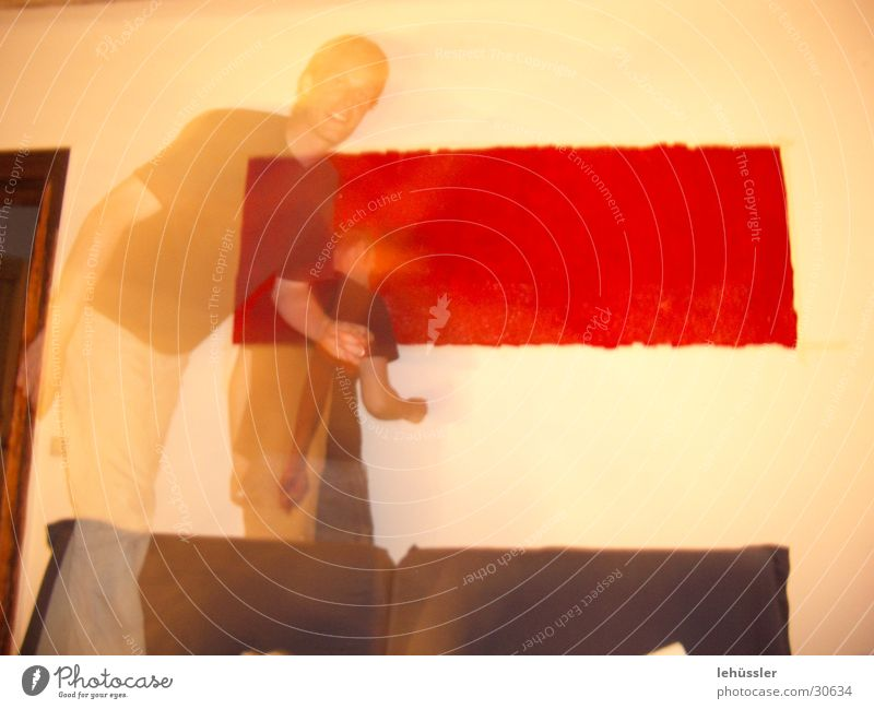 blood and shadow Red Art Image Blood Shadow Painting (action, work) home decor