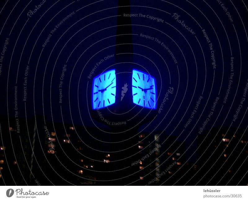 magic tube lighting Clock Cottbus Night Light Bridge Blue