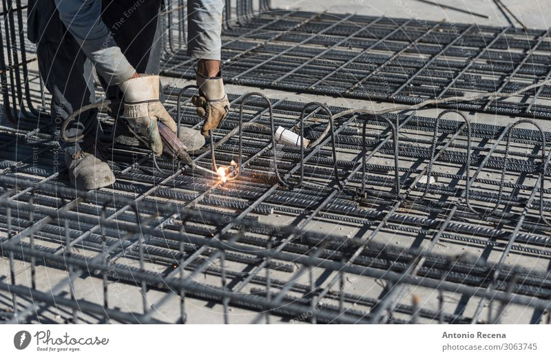 man working in outdoors image welding structures Man Old Adults Work and employment Metal Stand Creativity Industry Profession Factory Material
