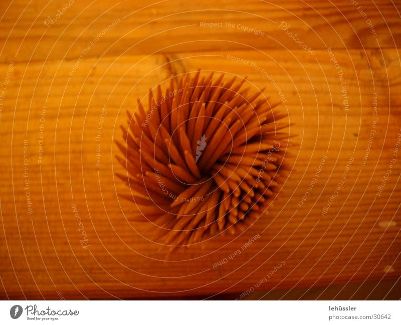 Wood on wood Table Toothpick Kitchen Macro (Extreme close-up) Structures and shapes Point ...