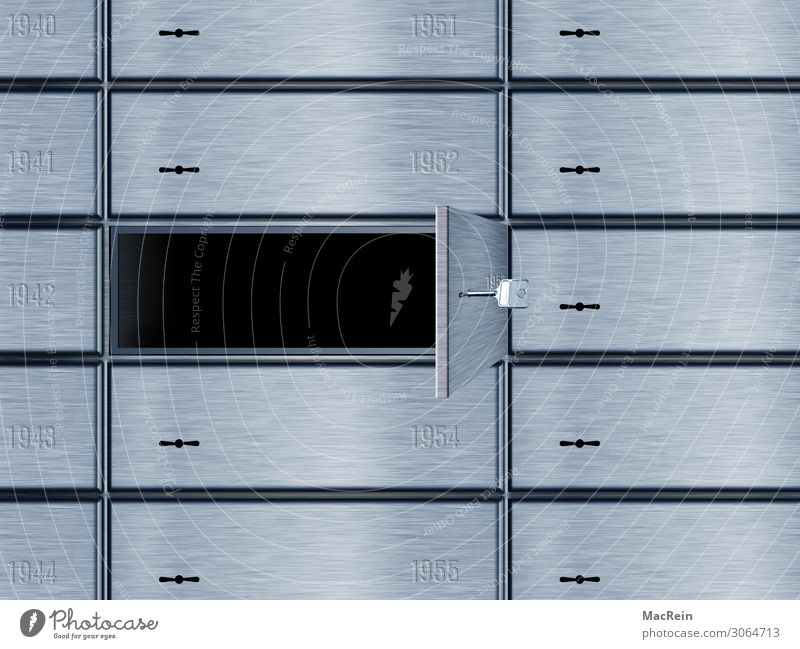 locker Metal Characters Digits and numbers Money Mysterious Value Luxury Financial institution Strongbox Safe deposit box Private sphere Financial Industry Open