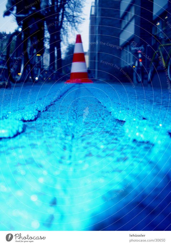 Blue Street Colour Rain Film Leisure and hobbies Hat Stencil