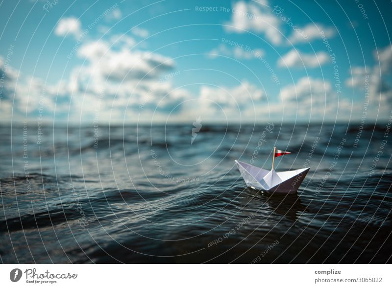 Paper ship in the waves Healthy Alternative medicine Wellness Well-being Calm Leisure and hobbies Playing Handicraft Model-making Sailing Environment Nature