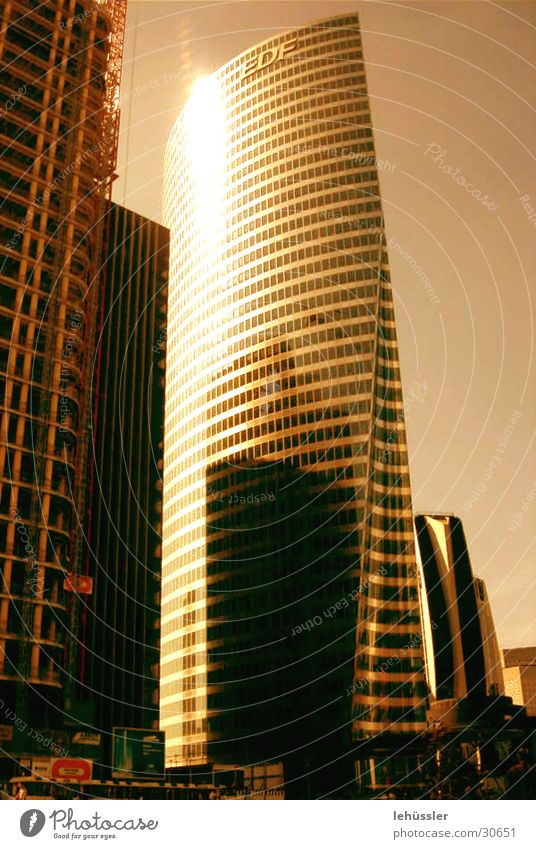 paris_grand ark Paris Town Building High-rise Architecture nanterre Modern Metal Sun ...