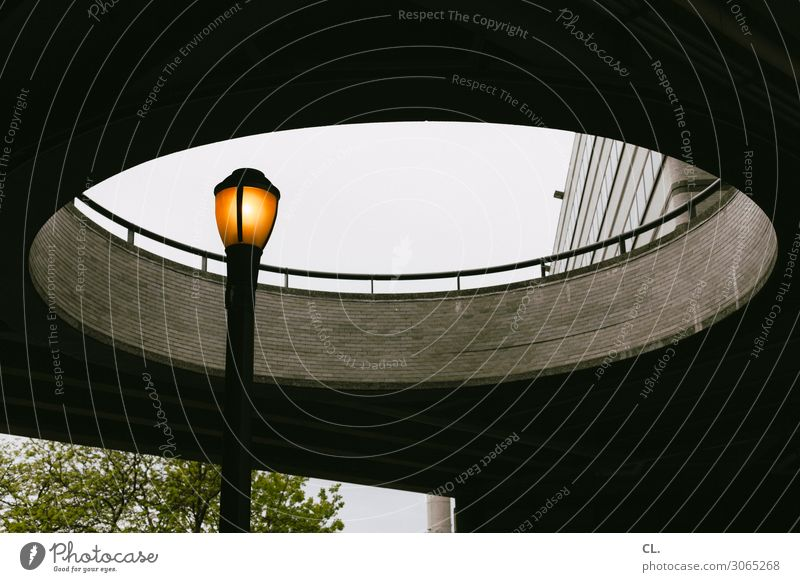 enlightenment Sky New York City Deserted Manmade structures Building Architecture Wall (barrier) Wall (building) Street lighting Handrail Circle Round Energy