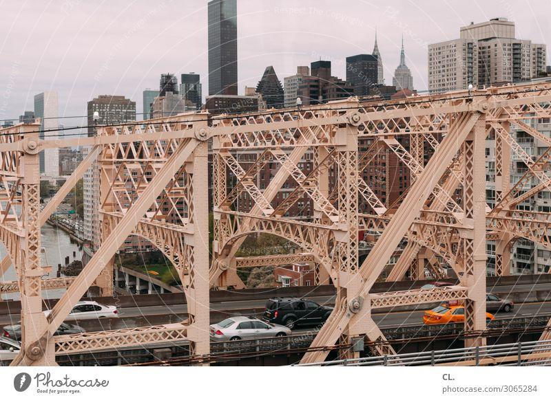 queensboro bridge New York City Manhattan Queensborough Bridge USA Town High-rise Manmade structures Building Architecture Tourist Attraction Landmark Transport