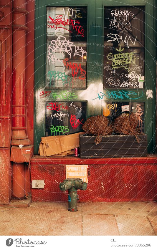 Town Colour Window Graffiti Wall (building) Art Wall (barrier) Exceptional Decoration Characters Dirty Esthetic Creativity Authentic Broken Change