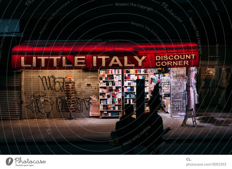 Human being Vacation & Travel Town Dark Street Tourism Going Characters Dirty Authentic USA Shopping City trip Downtown Kitsch Store premises