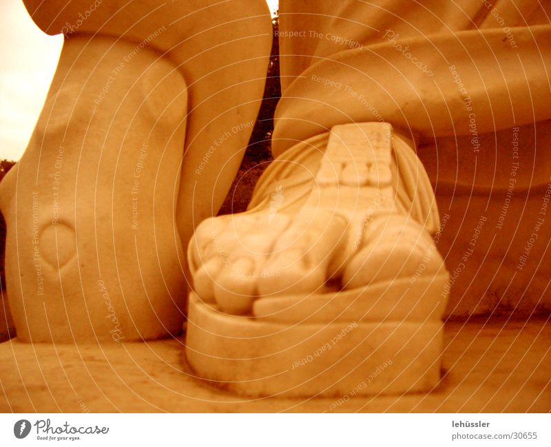 Human being Man Stone Feet Historic Sculpture Toes Costume Sandal Pedestal