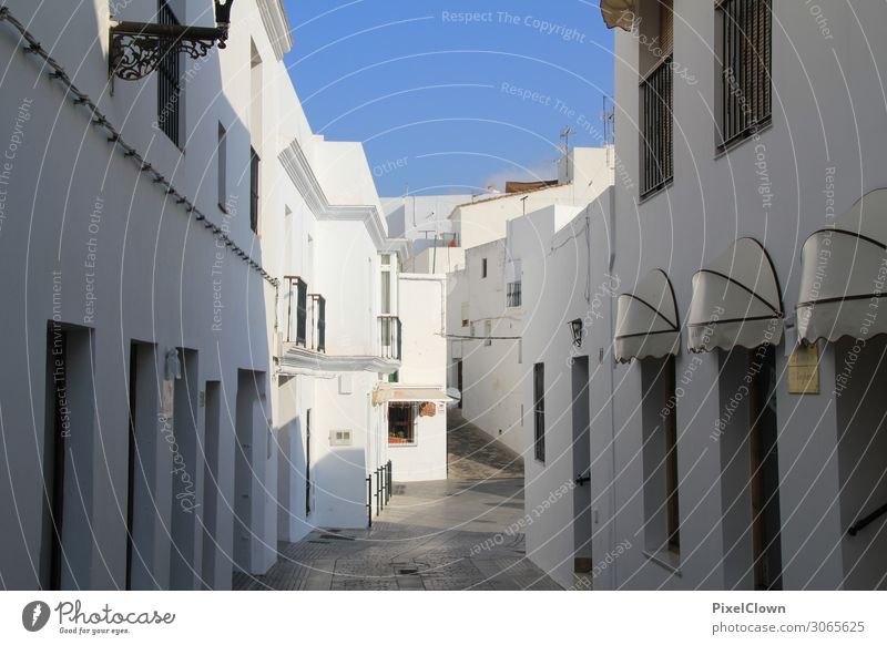 Vacation & Travel Blue Town Colour Beautiful White Architecture Lifestyle Building Tourism Moody Living or residing Trip Flat (apartment) Construction site