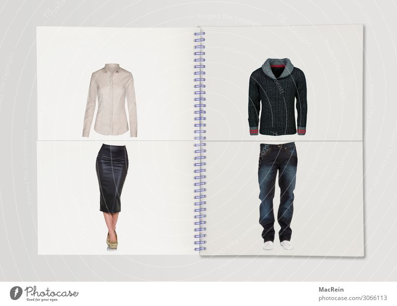 Kreationsmappe Damenmode Kollektion Gestalten Gestaltung Mode Rock Bluse Schuhe Heft Ringheft Ringmappe Spiralheft Kreativ Kreationen Kladde Spirale Spiralen