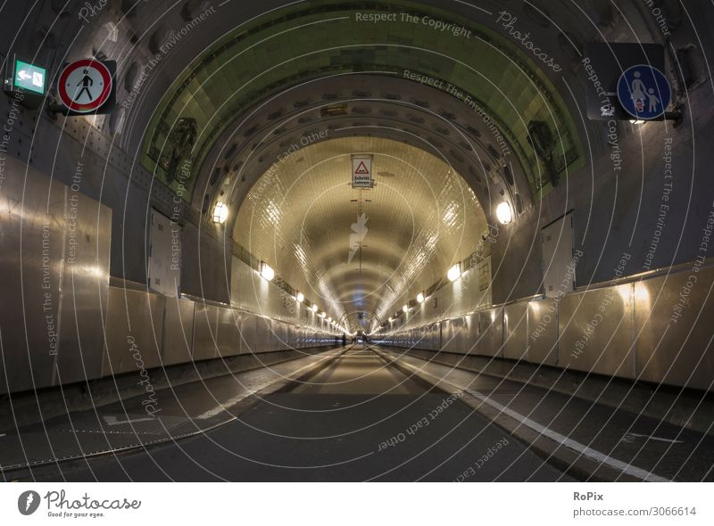 Historical Elbe Tunnel in Hamburg. Lifestyle Style Design Vacation & Travel Tourism Trip Sightseeing City trip Science & Research Work and employment Profession