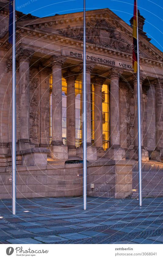The German people Evening Architecture Berlin Reichstag Germany Dark Twilight Capital city Night Parliament Government Seat of government Government Palace