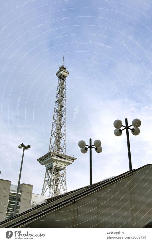 The Berlin Radio Tower Transmitting station Landmark icc City Capital city Life Deserted Middle Charlottenburg Summer Town Street City trip Scene Copy Space