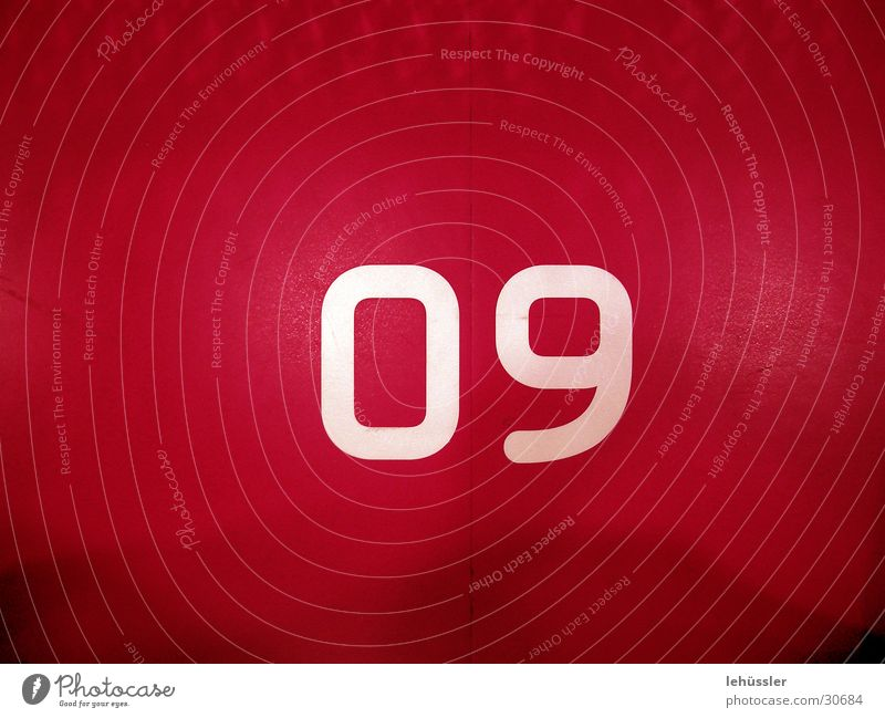 number 09 Red White Digits and numbers Places Floor covering Industry o9 60 Pressure ...