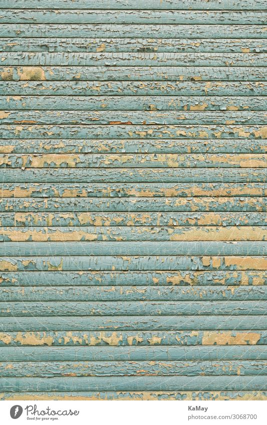 Flaking off Roller shutter Window Old Blue Poverty Town Decline Transience Background picture Closed Derelict Light blue Vertical Neutral Background