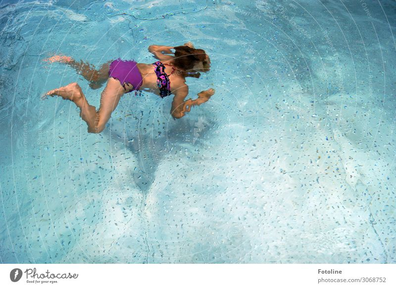 Child Human being Blue Water Hand Girl Legs Life Cold Feminine Feet Hair and hairstyles Head Swimming & Bathing Bright Body