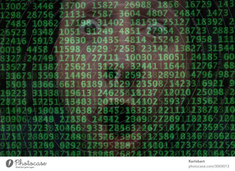 Overload Screen High-tech Cyber Server Network Software Program Code Hacker Computer digitization Digital figures number combination Technology Internet