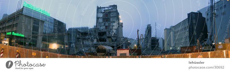 City Stone Architecture Construction site Frankfurt Fence Dismantling Building rubble