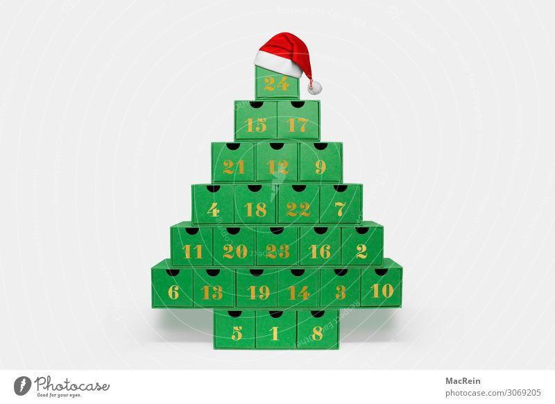 Advent calendar Handcrafts Christmas & Advent Nature Box Retro Advent Calendar filled with handicrafts Natural homemade calendar Cardboard small box Pyramid