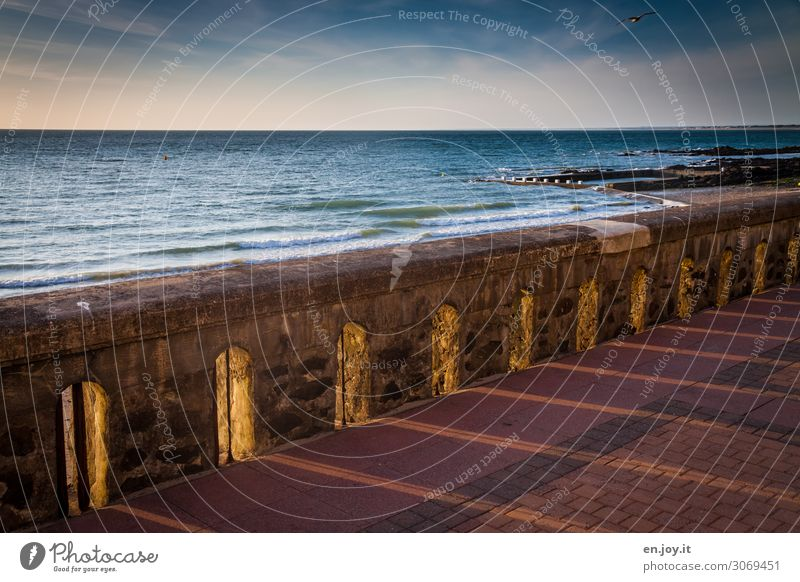 rays of hope Vacation & Travel Summer vacation Ocean Landscape Sky Horizon Sunrise Sunset Beautiful weather France Normandie Illuminate Hope Wall (barrier)