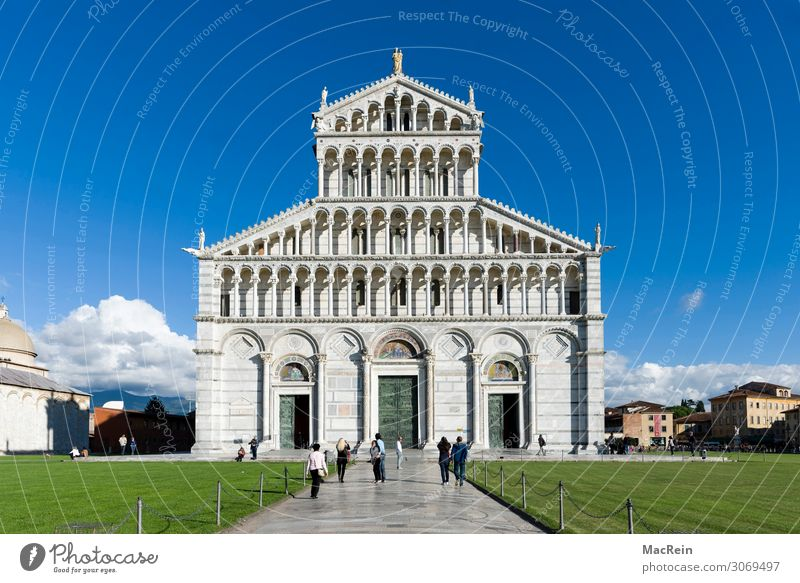 Cathedral of Pisa Group Architecture Landscape Spring Summer Park Meadow Town Church Dome Manmade structures Building Culture Art Italy Tourism