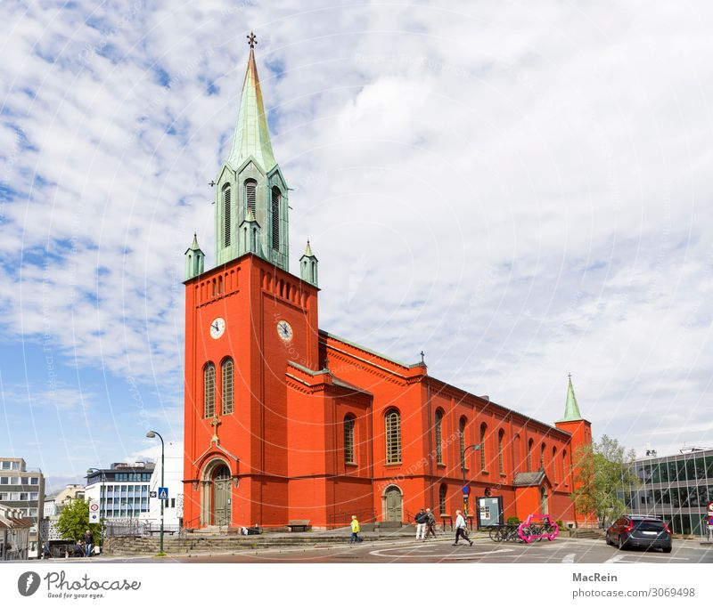 St. Petri Church in Starvanger, Norway Building Architecture Old Red Religion and faith sankt petri church Stavanger parish Gothic period Attraction