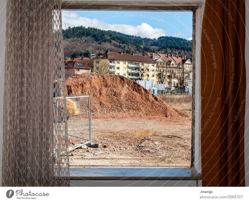 change Construction site Freiburg im Breisgau Town House (Residential Structure) Window Drape Change Living or residing House hunting Colour photo Interior shot