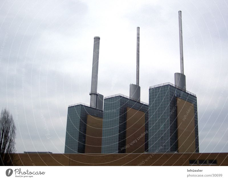 the three towers 3 Hannover Architecture Tower Chimney trio Industrial Photography