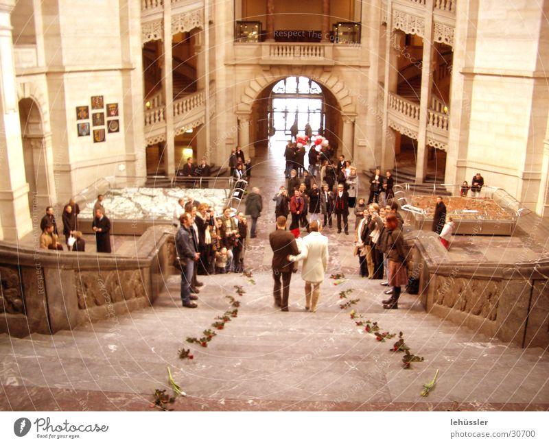 Group Couple Friendship Wedding Rose Stairs Matrimony Festive
