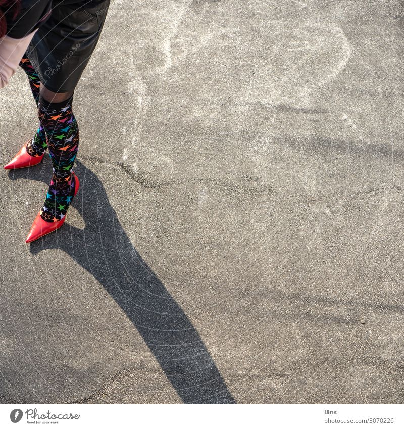 Walk my Way Human being Feminine Woman Adults Legs 1 Chemnitz Places Exceptional Gray Red Beginning Uniqueness Eroticism Network February Colour photo